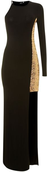 One Shoulder Sequin Maxi Dress - Lyst (so unique and cool...really really like!)