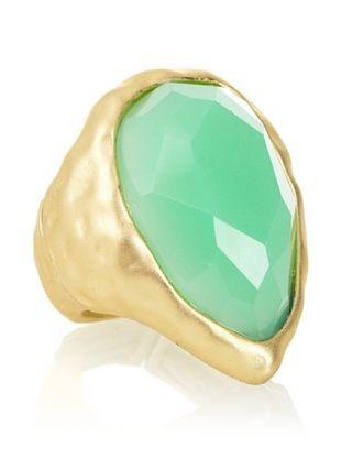 Kenneth Jay Lane Faux Jade Stretch Ring