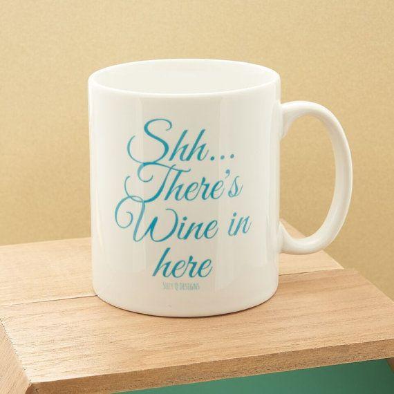 Tasse mit lustigem Spruch.  Zu finden bei Etsy.