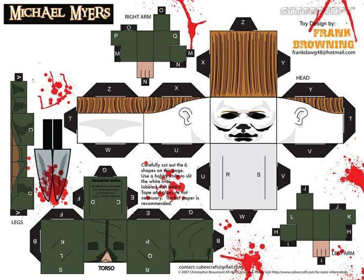 Freddy Krueger Papercraft Minecraft