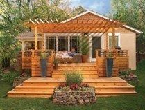 A great way to extend our deck to lead into the yard #PinMyDreamBackyard