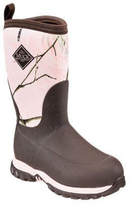 The Original Muck Boot Company Rugged II Winter Boots for Kids - Brown/Realtree AP Colors Pink - 1 M