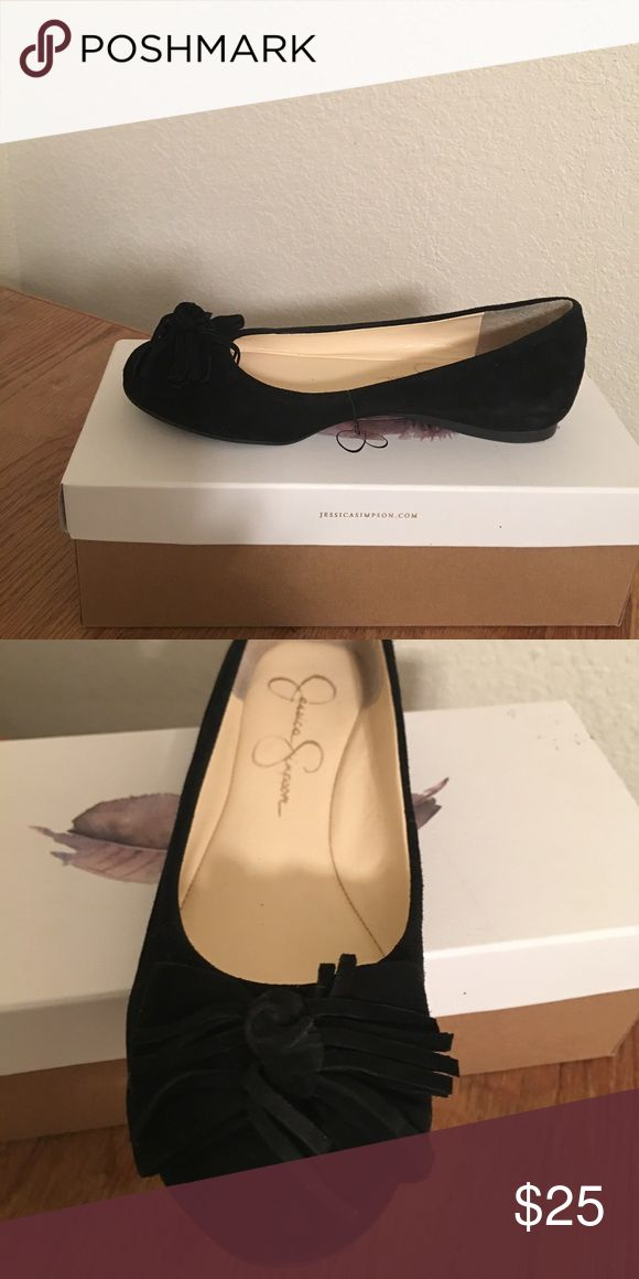 Jessica Simpson ballerina shoes Black suede, 7.5, never used, but I do try 😔😌 Jessica Simpson Shoes Flats & Loafers