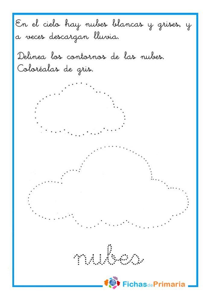 Grafomotricidad Preescolar Trazar Nubes Dibujos Para Preescolar Actividades Para Preescolar Actividades Para Ninos Preescolar