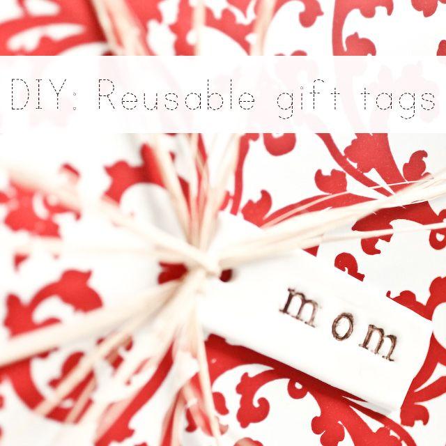 DIY reusable gift tags