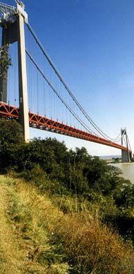 Vue générale du pont de Tancarville