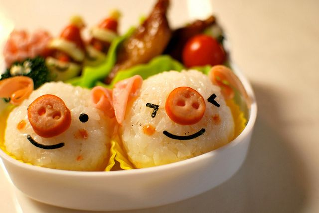 lunch box piglets #bento #kids #lunch