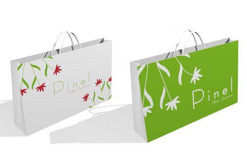 Gráfica para bolsas de indumentaria femenina.  Cliente: Pinel - Buenos AIres