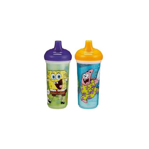SpongeBob SquarePants 9oz. Insulated Spill-Proof Cup - babyearth.com (42 SEK) ❤ liked on Polyvore featuring baby and sippy cups