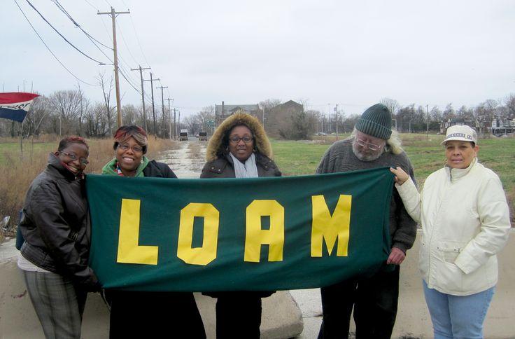 Logan neighborhood leaders meet onsite, April 2015.