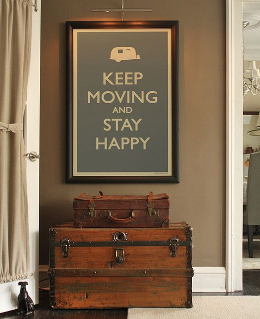 Keep moving and stay happy. $20