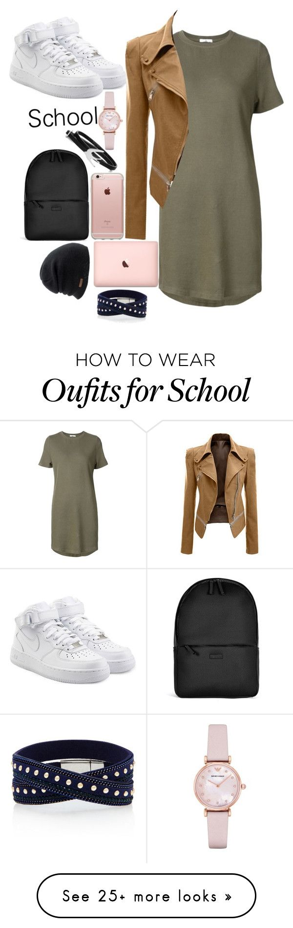 """School days"" by smokeylovebae on Polyvore featuring 321, NIKE, Incase, Rains, Coal, Emporio Armani and McQ by Alexander McQueen"