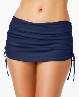 For fuller swim coverage, Island Escape's ruched swim skirt is a chic…