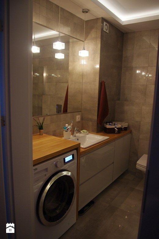 1 - Mała łazienka w bloku bez okna, styl eklektyczny - zdjęcie od Studio Projekt