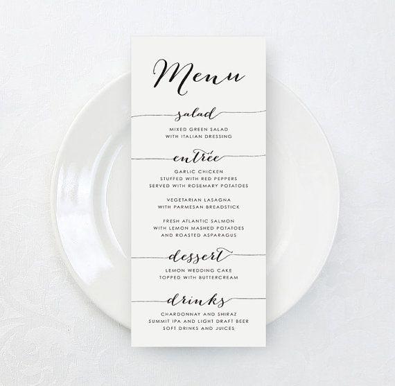 25 best ideas about Wedding Menu Cards – Wedding Menu