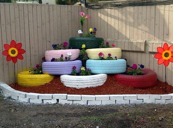 My tire garden- love it!