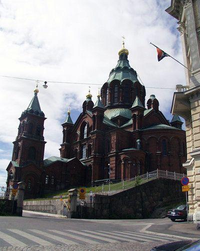 Russian orthodox cathedral Uspenski near the centre of Helsinki