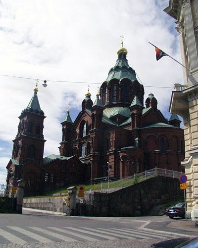 Russian orthodox cathedral Uspenski near the centre of Helsinki