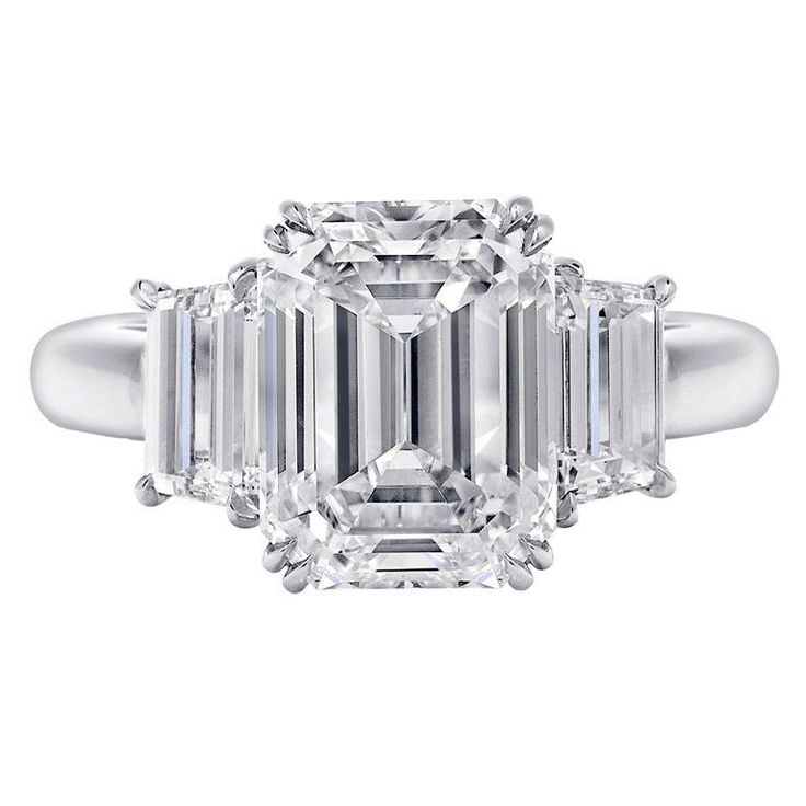Three Stone Engagement Ring, 5.59 Carats