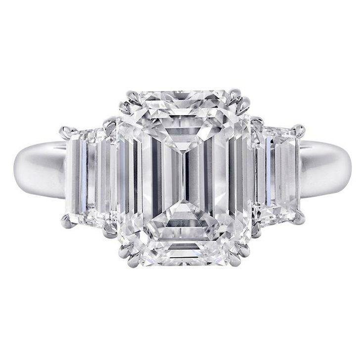 Three Stone Engagement Ring, 5.59 Carats