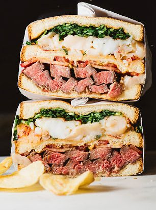 This Steak and Miso Butter Lobster Sandwich from I Am a Food Blog is the stuff culinary dreams are made of. Excuse us while we wipe the drool from our chins.