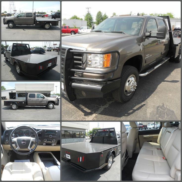 ... Truck of the Day - - ] Our #VehicleSpotlight is a 2008 GMC Sierra  3500HD, Crew Cab, SLT, 4x4, DRW, Flatbed, Automatic, Leather and Tow  Package!
