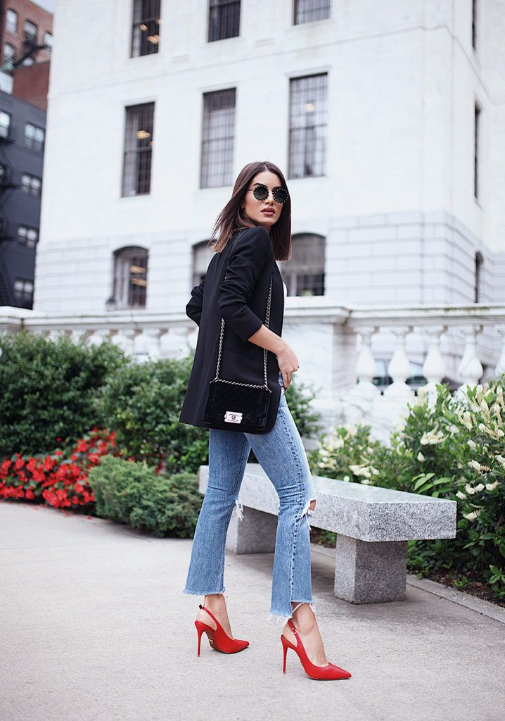 c143cce45 Look- Jeans e scarpin vermelho camila coelho | looks | Scarpin ...