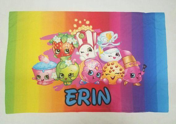 Personalized Shopkins Pillow Case Shopkins pillow Rainbow
