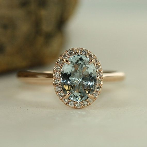 Handmade Natural Aquamarine Engagement Ring in von MidPointDesign
