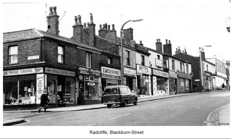 Radcliffe, Blackburn Street  (left) Railway Street.