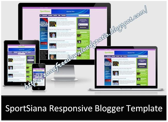SportSiana Responsive Blogger Template