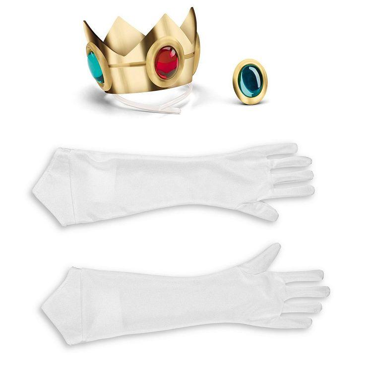 Adult Super Mario Brothers Princess Peach Costume Accessory Kit, Women's, Multicolor