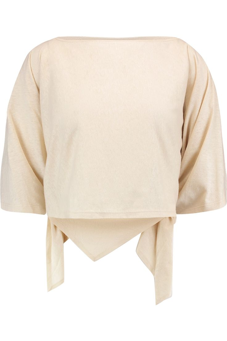 Shop on-sale MM6 Maison Margiela Convertible draped slub jersey top. Browse other discount designer Tops & more on The Most Fashionable Fashion Outlet, THE OUTNET.COM