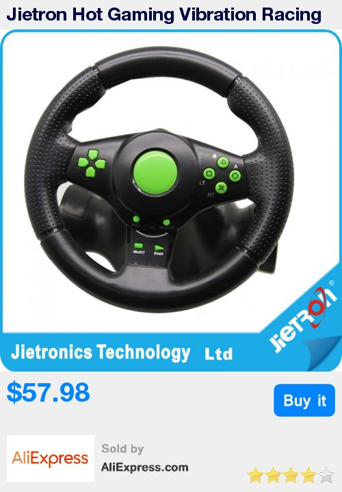 Jietron Hot Gaming Vibration Racing Steering Wheel (23cm) and Pedals for XBOX 360 PS3 PS2 PC USB * Pub Date: 07:16 Oct 14 2017