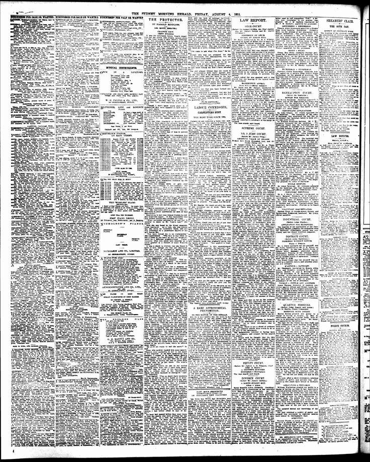Sydney Morning Herald (NSW) - Australian Newspapers - MyHeritage