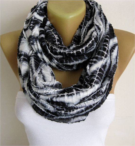 NEW-Infinity  Scarf Shawl Circle Scarf Loop Scarf by MebaDesign