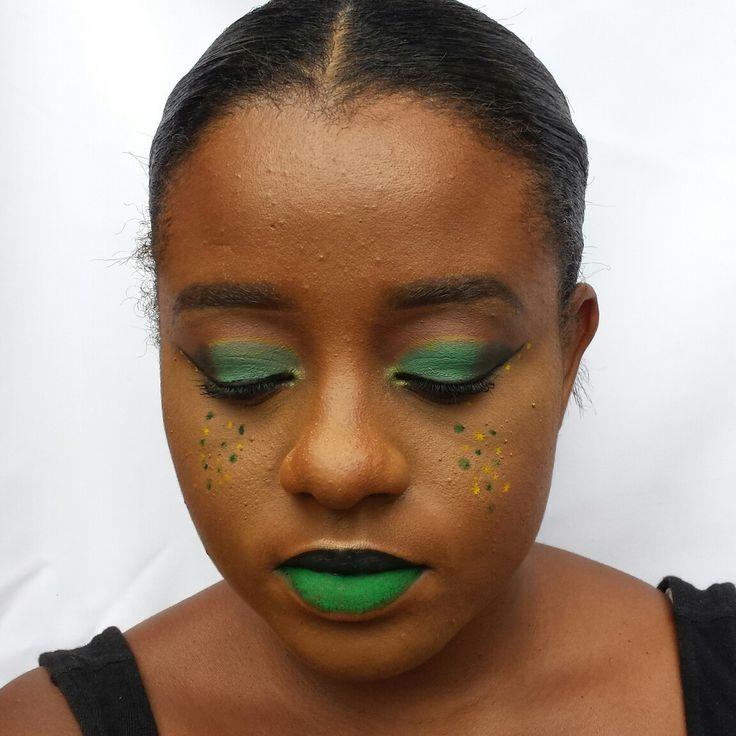 Jamaica independence day makeup look #jamakca #makeup