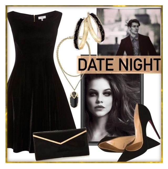 Date night by fashion-film-fun on Polyvore featuring polyvore, fashion, style, Christian Louboutin, Thalia Sodi, Kendra Scott and clothing