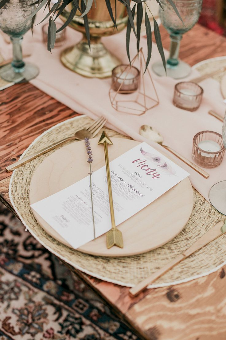 Cute boho table décor