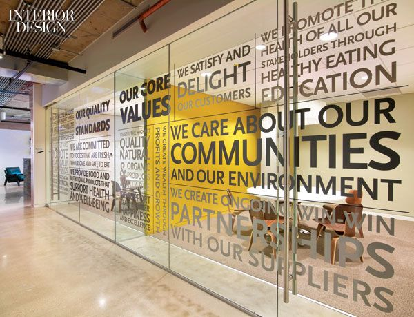 Vinyl lettering enhances the storefront system of two meeting rooms