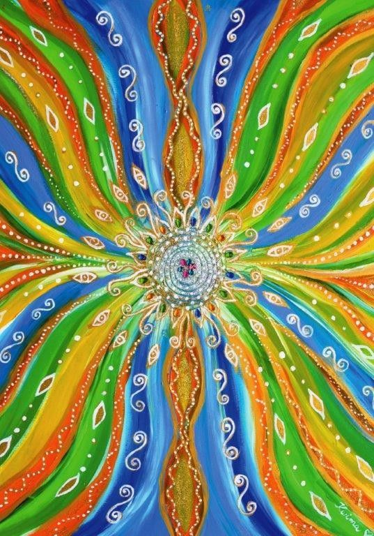 Energetic sheets with Adriana Karima's paintings – MANDALA OF JOY Swathed in colors, you are bound to wake up with new energy.  The picture that decorates the sheets is euphoric with positive colors. These sheets bring joy, warmth, invite to the distant land of India. Microfiber 80gr/qm2, very nice to touch and comfortable in use. Breathable, non-staining. Ideal for allergic people. Available in two sizes: 140 x 200 with 1 pillow cover 50 x 60,169 zł 160 x 200 with 2 covers,60 x 70 ,189ZL