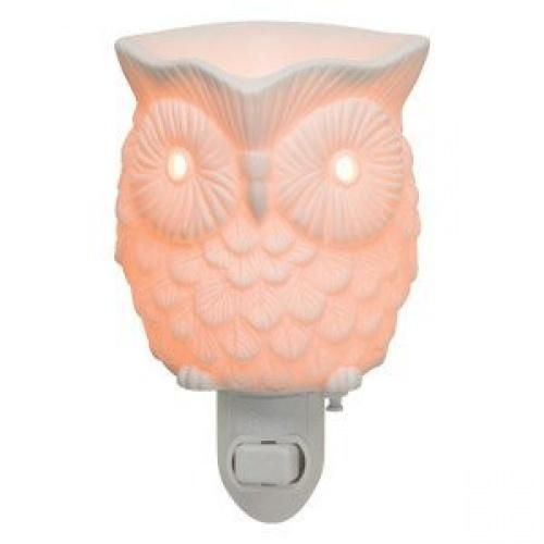 "Scentsy ""Whoot"" Owl White Glowing Plug-in Warmer"