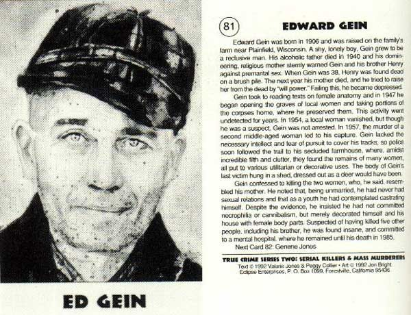 an introduction to the murder history of edward gein Serial killer edward gein essay  - serial killer edward gein serial murder is viewed as multiple murders within a given period of time  since history,.