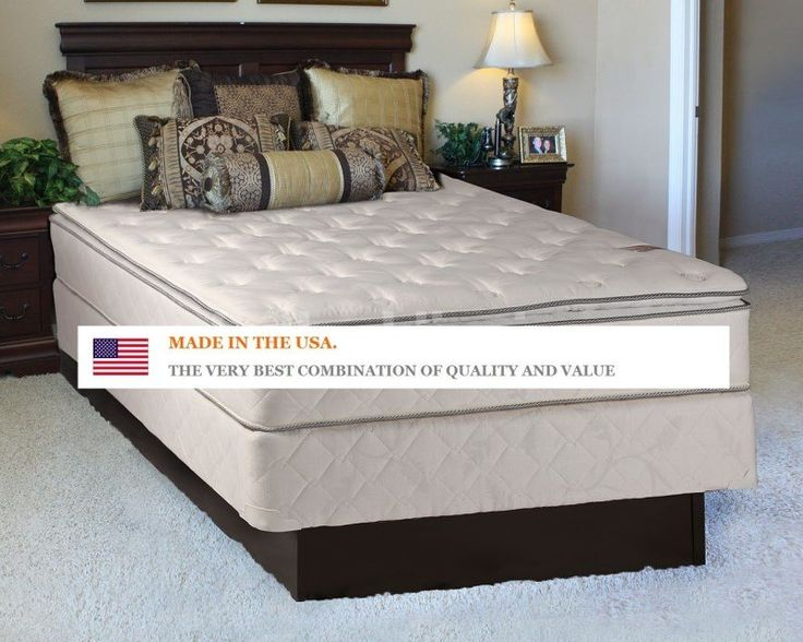 The Sunset Plush Inner Spring Pillowtop Queen Size Mattress And Box Set