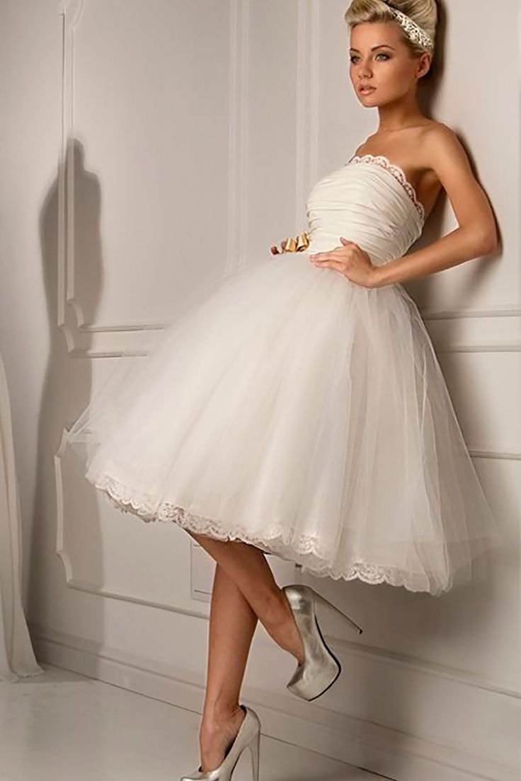 Короткие свадебные платья от салона Ave Maria