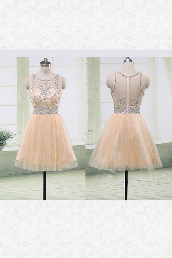 d1866bfd533 Outlet Vogue Champagne Homecoming Dress