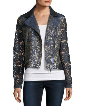 May+Lace+Moto+Jacket+by+Elie+Tahari+at+Neiman+Marcus.