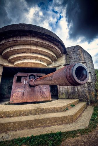(WW2) Normandy Bunker.. This is what our American boys had to deal with on D-day... never forget.