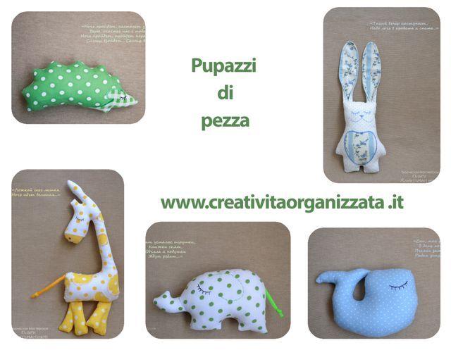 Un po' di cartamodelli gratuiti per fare pupazzi di pezza: la giraffa, l'elefante, il riccio, il coniglietto e la balena.  Sono tutti cartamodelli semplici e si trovano tutti nello stesso post