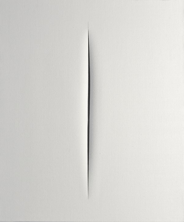 Lucio Fontana - Concetto Spaziale - Attesa (Spatial Concept - Expectation), 1964-1965, tempera on canvas